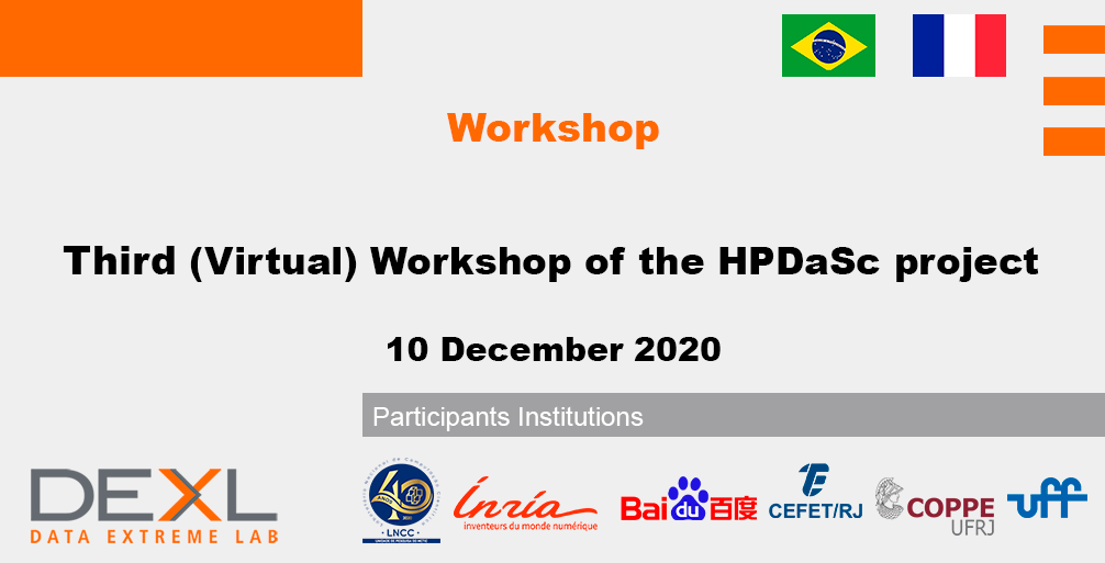 Third (Virtual) Workshop of the HPDaSc Project